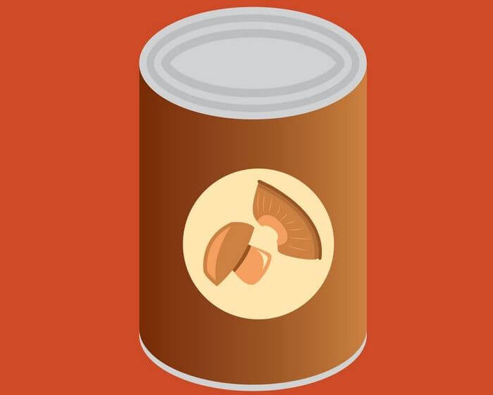 Vector image of a can of processed food.
