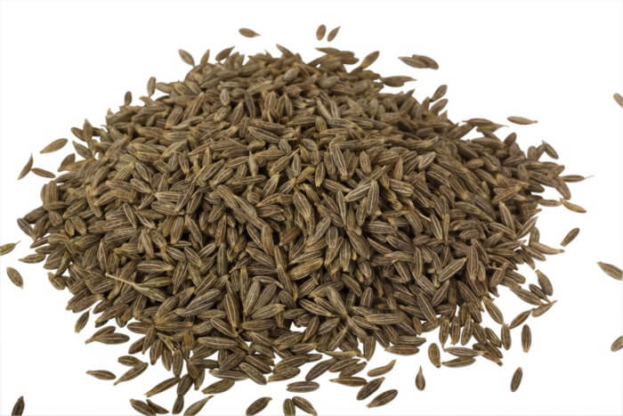 Close up of heap of cumin seeds