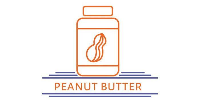 A jar of peanut butter.
