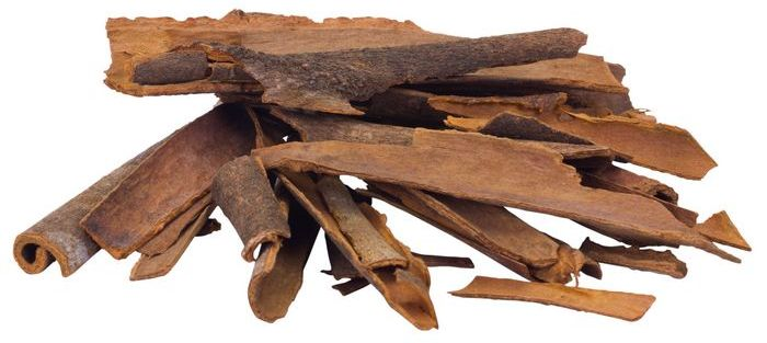 Close up of cinnamon sticks.