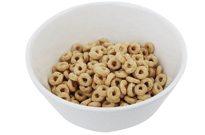 Cereals in a bowl.