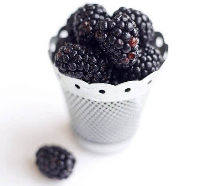Blue berries in a bowl: depicting different food than usual.