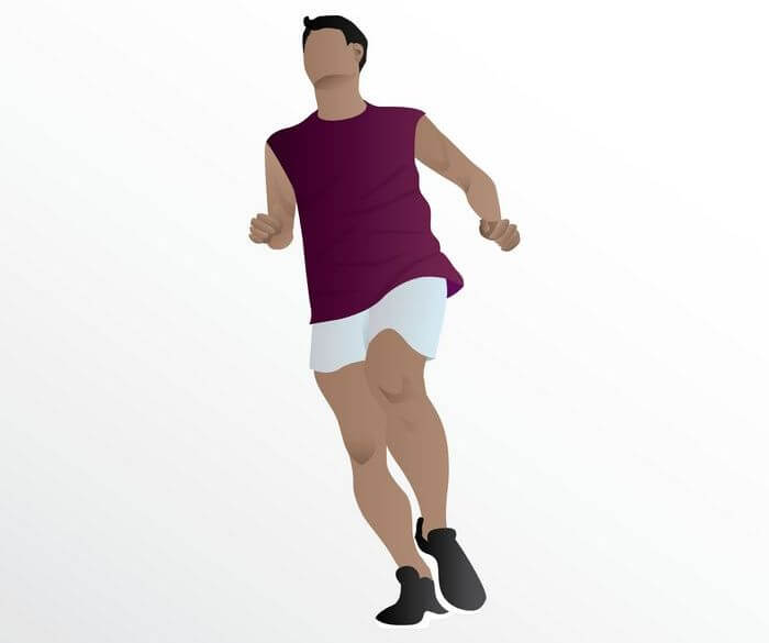 Vector image of a man running.
