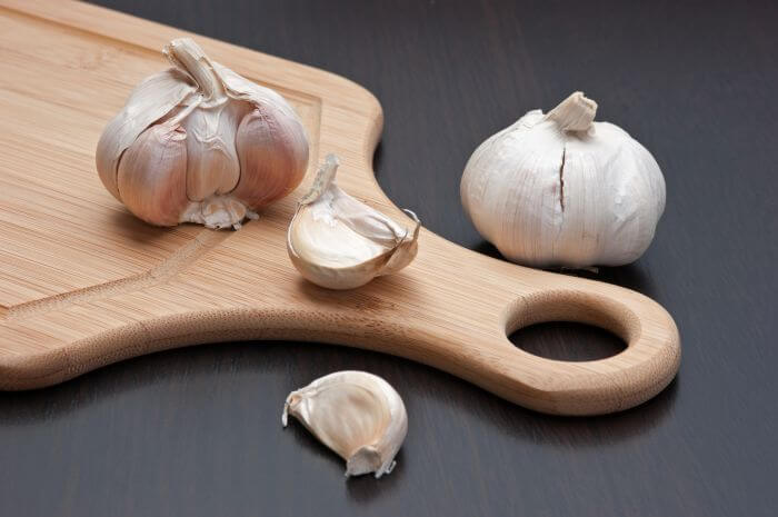 Garlic bulb and cloves